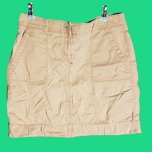 LOFT Tan Denim Shift Skirt size 4